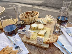 Red Wine with Cheese